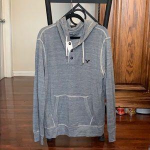Men's American Eagle henley hoodie